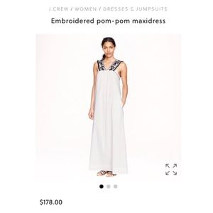J.Crew embroidered long dress